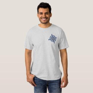 Kompass-Rosen-Segeln Besticktes T-Shirt
