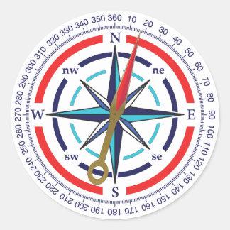 Kompass Runder Aufkleber