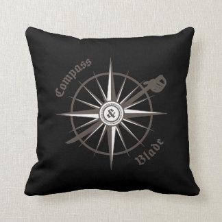 Kompass-und Blatt-Wurfs-Kissen Kissen