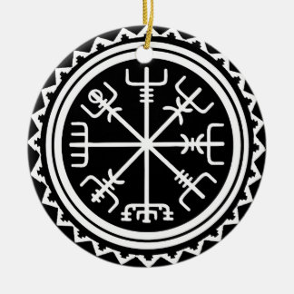 Kompass Vikings Vegvisir Keramik Ornament