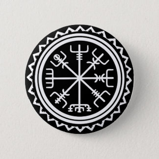 Kompass Vikings Vegvisir Runder Button 5,1 Cm