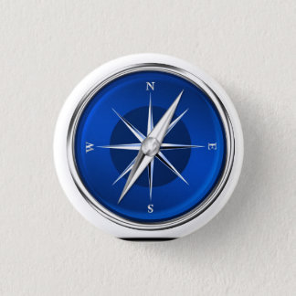 Kompassgesicht Runder Button 3,2 Cm
