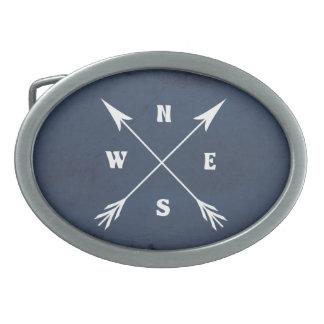 Kompasspfeile Ovale Gürtelschnalle