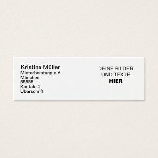 Komplett selbst gestaltete Slim-Visitenkarten Mini Visitenkarte