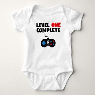 Kompletter erster Geburtstag des Niveau-eins Baby Strampler