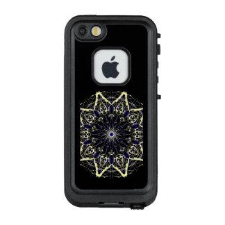 Komplexer Stern-hellgelbes Farbrad LifeProof FRÄ' iPhone SE/5/5s Hülle
