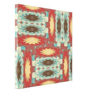 Komplexes buntes Muster Leinwanddruck