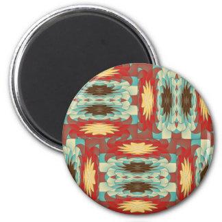 Komplexes buntes Muster Runder Magnet 5,7 Cm