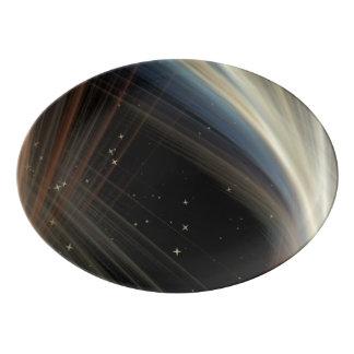 Komplikationen im Himmel Porzellan Servierplatte
