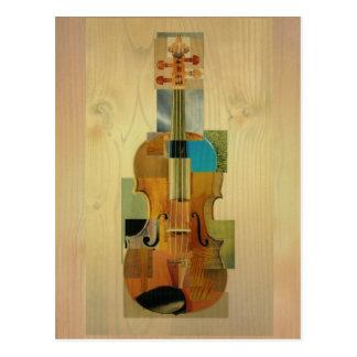 Komponierte Violine Postkarte
