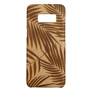 Kona Palmen-hawaiisches Blatt-Imitat-Ahorn-Holz Case-Mate Samsung Galaxy S8 Hülle