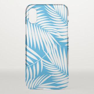 Kona Palmen-hawaiisches Blatt-tropisches Blau iPhone X Hülle