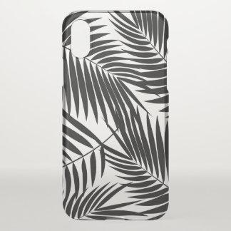 Kona Palmen-hawaiisches Blatt-tropisches Schwarzes iPhone X Hülle