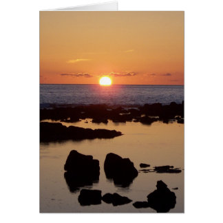 Kona Sonnenuntergang 2 Notecard Karte