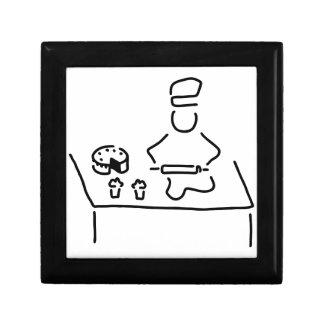 konditor konfiseur kuchenbaecker kleine quadratische schatulle