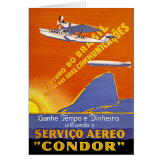 Kondor ~ Brazillian Fluglinienverkehr Grußkarten