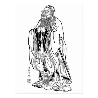 Konfuzius Postkarte