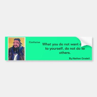 Konfuzius-Zitat Autoaufkleber