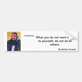 Konfuzius-Zitat Autosticker