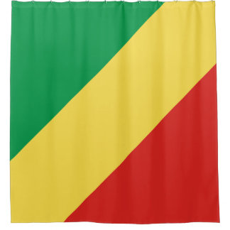 Kongo-Brazzaville Flagge Duschvorhang