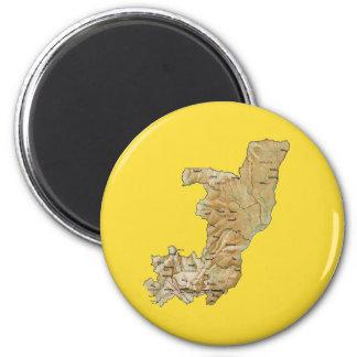 Kongo-Brazzaville Karten-Magnet Runder Magnet 5,7 Cm