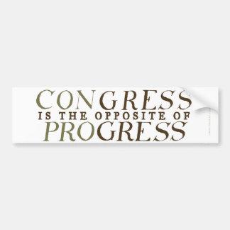 Kongress-Gegenteil des Fortschritts-Autoaufklebers Autoaufkleber