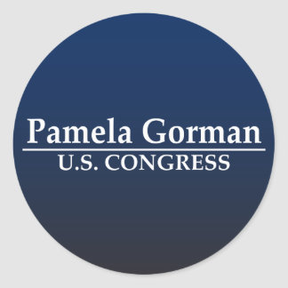 Kongreß Pamela Gorman US Runder Aufkleber