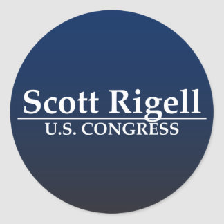 Kongreß Scotts Rigell US Runde Aufkleber