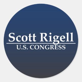 Kongreß Scotts Rigell US Runder Aufkleber