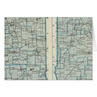 Kongressbezirkgerichtsbezirke Indiana Karte