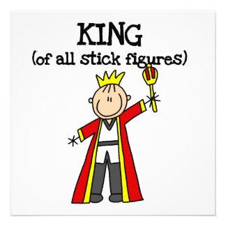 König aller Strichmännchen Personalisierte Ankündigungen