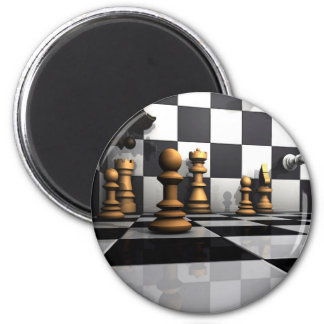 König Chess Play Runder Magnet 5,7 Cm