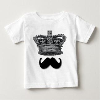 König Crown und Schnurrbart Baby T-shirt