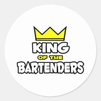 König der Barkeeper Runder Aufkleber