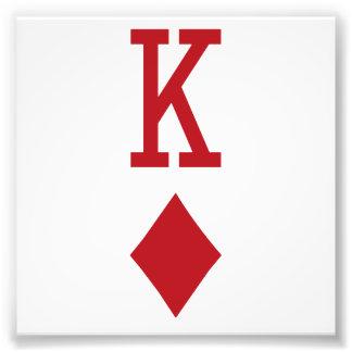 König der Diamant-roten Spielkarte Fotografie