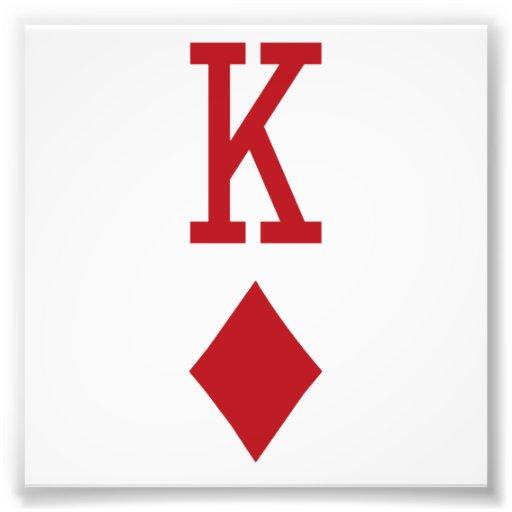 König der Diamant-roten Spielkarte Kunstfoto