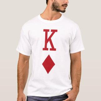 König der Diamant-roten Spielkarte T-Shirt