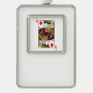 König der Diamanten Rahmen-Ornament Silber