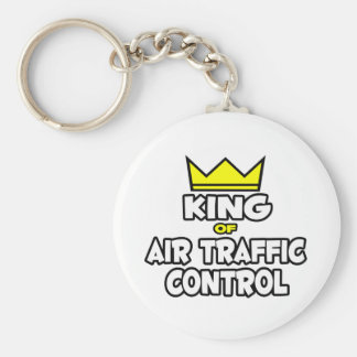 König der Flugverkehr-Kontrolle Standard Runder Schlüsselanhänger