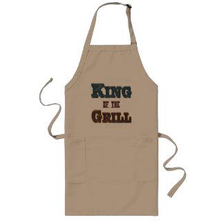 König der Grill GRILLEN, die Slogan-Schürze kochen Lange Schürze