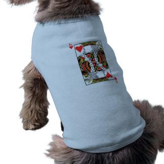 König der Herzen - addieren Sie Ihr Bild Ärmelfreies Hunde-Shirt