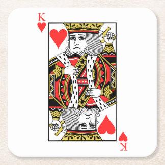 König der Herzen Rechteckiger Pappuntersetzer
