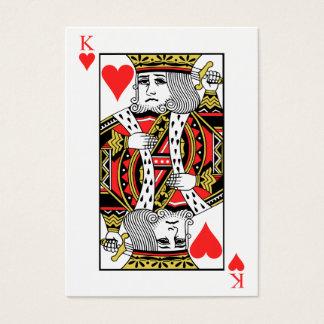 König der Herzen Visitenkarte