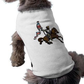 König, der rote weiße und blaue Fahne auf Pferd hä T-Shirt