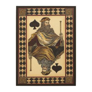 König der Spaten-Spielkarte durch Visions-Studio Holzdruck