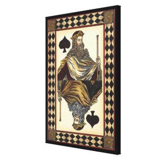 König der Spaten-Spielkarte durch Visions-Studio Leinwanddruck