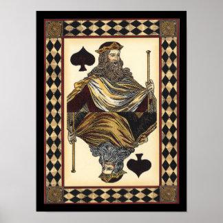 König der Spaten-Spielkarte durch Visions-Studio Poster
