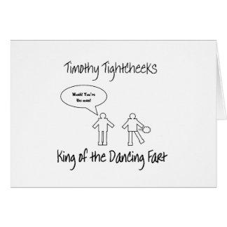König der Tanzen-Furz Karte