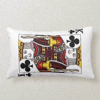 König der Verein-Spielkarte Lendenkissen
