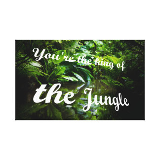 König des Dschungels Leinwanddruck